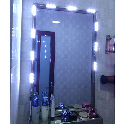 5ft LED white Dressing Mirror Lighted Cosmetic Makeup Vanity light+remote+power