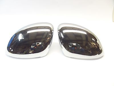 New Genuine Fiat 500X Bright Chrome Mirror Covers Backing Caps 50903552 Backing