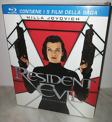 Box Blu-Ray Resident Evil Collection - 1+2+3+4+5 - Nuovo New