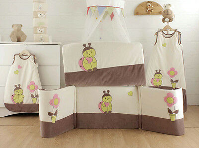 Les Kinousses Luxury Baby Cot Bumper CotBed and Quilt 2PCS - Ladybird