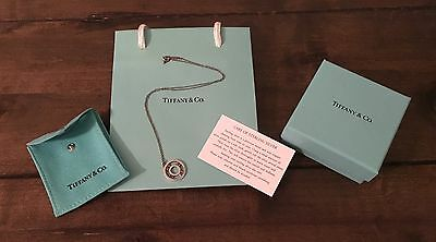 Tiffany Atlas Sterling Silver Round Pendant Necklace