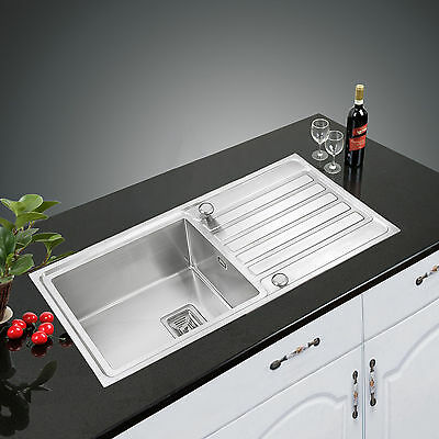Highest Quality 304 1.0 Reversible HANDMADE Stainless Steel Sink /kitchen tap