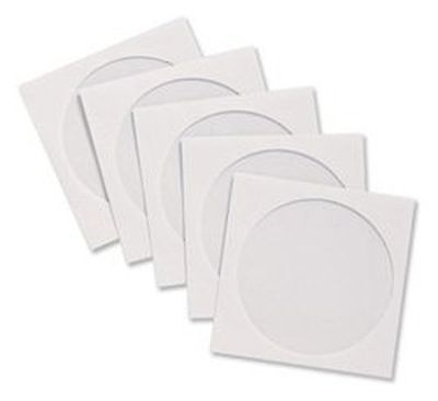 Brand New. Compucessory CD Sleeve Envelopes Paper with Window W126xH126mm Whi...