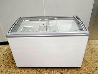 "AHT Ice Cream/Novelty Freezer with Sliding Glass Top, 49"" wide"