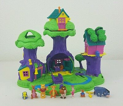 Disney Winnie The Pooh Polly Pocket 100 Acre Wood Almost Complete Excellent Cond