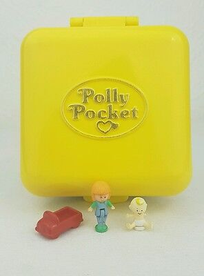 Vintage Polly Pocket Midge's Play School  Compact yellow Complete 1989