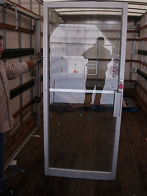 """1 Commercial Aluminum Door  ( No Frame)  36"""" W  X  83"""" H    (Used)"""