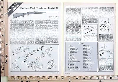 1989 THE POST-1964 WINCHESTER MODEL 70 EXPLODED VIEWS Magazine Article 4307