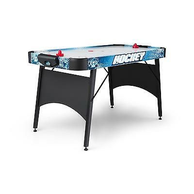 """Oneconcept Air Hockey Table 6 """" Large Play Surface Electric Game Gliding Black"""