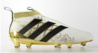 quality design 38f59 9337d adidas Ace 16+ Purecontrol FG Men Soccer Cleats Football Shoes WhiteGold  sz 10