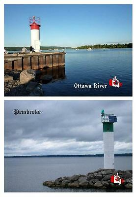 Canada Ottawa River Lighthouses 2 New Postcards