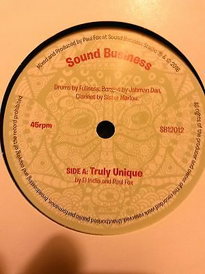 "PAUL FOX & EL INIDO - TURLY UNIQUE / SOUND BUSINESS 7""  Conscious UK steppers!"