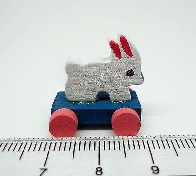 1:12th Scale Pull Along Rabbit Dolls House Miniature Nursery Accessory Toy