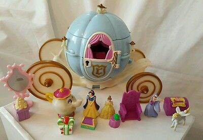 Polly Pocket Disney Cinderella's Carriage1999 Figures . accessories. BLUEBIRD