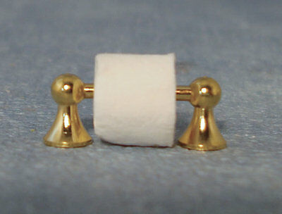 Toilet Roll Holder dolls house miniature bathroom accessory loo paper