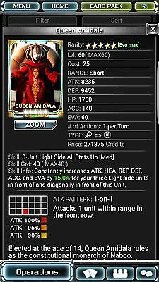 Star Wars Force Collection 4/7 skill 40 Queen SWFC