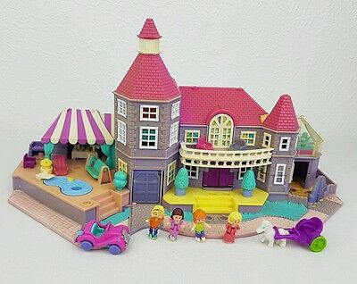 Vintage polly pocket lightup magical mansion pollyville 1994 *Complete *