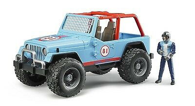 Bruder NEW APRIL - Jeep Cross Country racer blue with driver (02541) Toy
