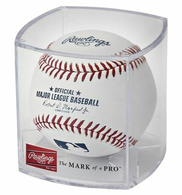 Rawlings Official MLB Baseball in Collectible Cube Autographs Ball Clear ROMLB-R