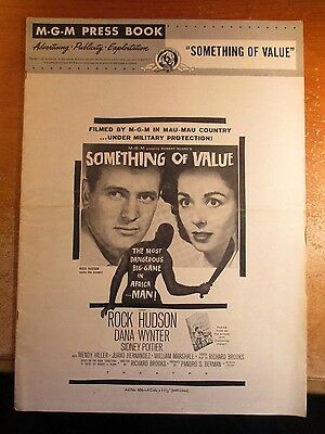 1957 Pressbook Rock Hudson In Something Of Value Mgm 32 Pages 17 By 12' Complete