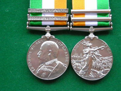 Kings South Africa Medal 2 Clasps Copy