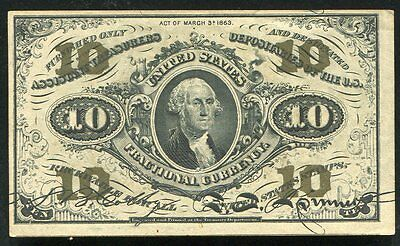 10 Ten Cents Third Issue Fractional Currency Note Uncirculated