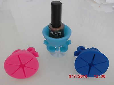 Porte-Vernis - Support Bague Silicone Vernis à Ongles