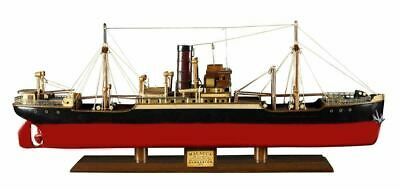 "Malacca 1897 Steamship Built 26.5"" Wooden Model Boat Assembled"