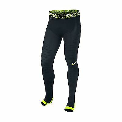 Nike Men's Pro Combat Recovery Hyper tight Post Game Recovery Black/Volt Size XL