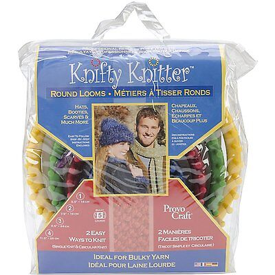NEW Knifty Knitter Round Loom Set of 4
