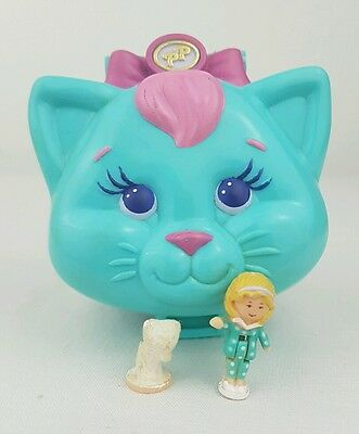 Vintage polly pocket Cuddly Kitty 100%Complete  1993 excellent condition