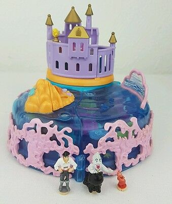 vintage polly pocket Ariel Undersea Kingdom Disney figures excellent condition
