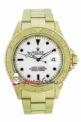 Rolex Yacht - Master 16628B Yellow Gold with White Dial Oyster Band Watch