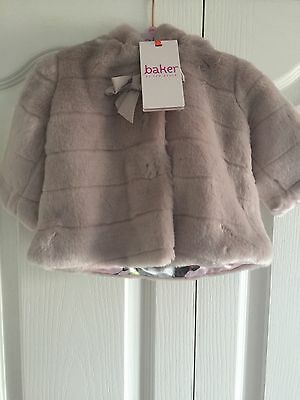 Ted Baker Baby Girls Faux Fur Coat / Jacket With Sizes. Designer. Rrp £40.00