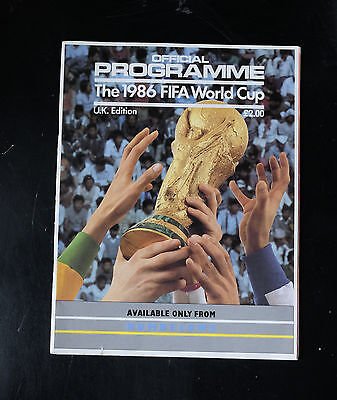 1986 World Cup Finals Programme Mexico