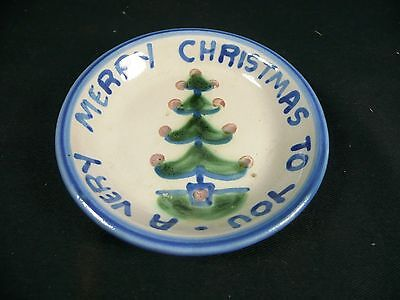 """M.A. Hadley Pottery - Merry Christmas To You Coaster - 4 1/4"""""""