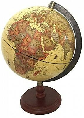 Exerz (Large Dia 25 CM) Antique Globe With A Wood Base Educational Learning New