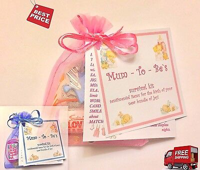Mum Mummy To Be Survival Kit Present Pregnancy Shower Favour Gift Bags UK