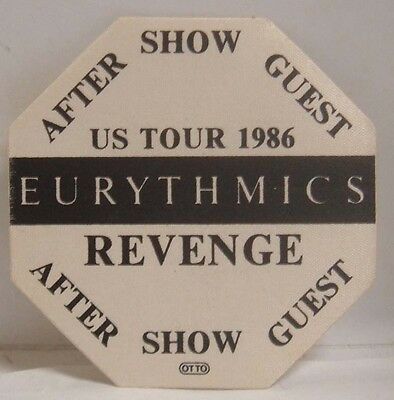 Eurythmics / Annie Lenox - Original Concert Tour Cloth Backstage Pass *last One*