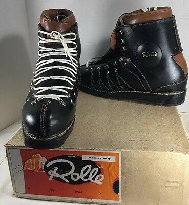 VTG Ski Boots Rolle Lace Up Pirelli Slalom Lodge Decor Steam Punk