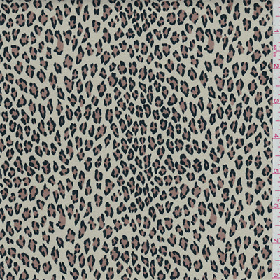 Beige Cheetah Print Ultrasuede, Fabric By The Yard