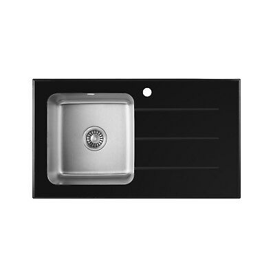 KITCHEN Single Bowl Stainless Steel Sink With Waste and Plumbing Kit