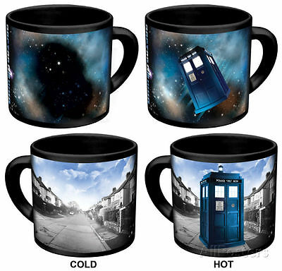 Dr. Doctor Who Disappearing Tardis Changing Coffee Ceramic Cup Mug 3.5X4.5