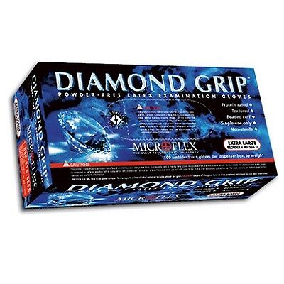 DIAMOND GRIP GLOVE PF LATEX MICROFLEX 100/Box, 10 Boxes/Case S,M,L,XL
