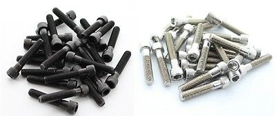 """Pack of Bolts for Rock Climbing Wall Holds 2"""" Choose Indoor or Outdoor Use Steel"""