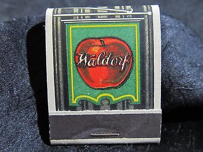 1940s WALDORF RESTAURANT MATCH COVER ~A Clean Place to Eat~ Vintage