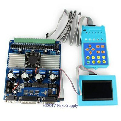 4 Axis Intelligent TB6560 Stepper Motor Driver + LCD Display + Handle Controller