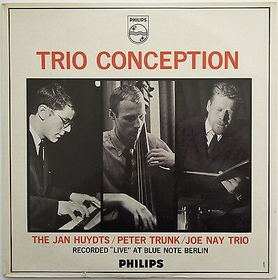 The Jan Huydts / Peter Trunk / Joe Nay Trio - Trio Conception LP  1963 Philips