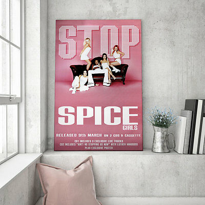 "Huge original Spice Girls promo poster – Stop - 60"" x 40"""