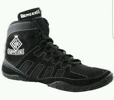 Grapple Kings Wrestling Boxing shoes Boots - Black Unisex Mens Womens